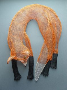 BLANKA SPERKOVA Vulpine Boa Colour lacquered finger knitted wire with iridescent glass beads