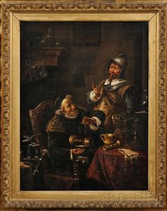 Continental School, Century Goldsmith Weighing a Goblet Signed Oil On Canvas, 19th Century, Im Not Perfect, Auction, Paintings, Gallery, School, Art, Art Background