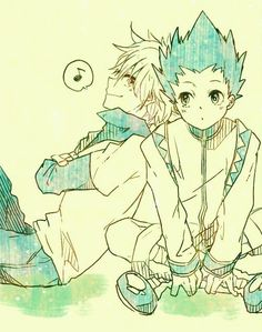 Gon Freecs and Killua Zoldyck; Hunter x Hunter.