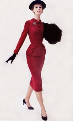 Dolly - 1950s vintage suit cuffed sleeves
