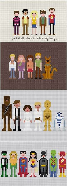 The Scooby Doo one is so cute! Makes me want to learn cross stitch