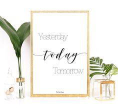 Affiche noir et blanc, Affiche citation, Poster design, Typographie moderne, Affiche inspiration, Affiche motivation, Idée cadeau imprimable par MonRosePompon sur Etsy https://www.etsy.com/fr/listing/497950786/affiche-noir-et-blanc-affiche-citation