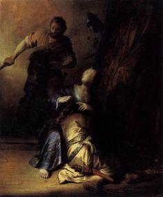 Samson and Delilah // 1628 // Rembrandt // Staatliche Museen, Berlin