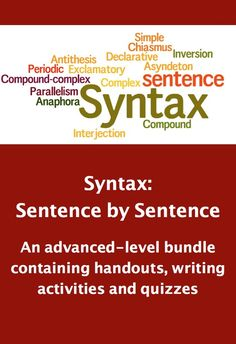 This Common Core aligned syntax bundle includes readings, analysis and quizzes--everything an AP Lang or advanced-level teacher needs to teach syntax! $