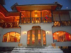 Hanul Curtea Veche Bran- Old Court Inn - Google+ Enjoy unparalleled services and a truly prestigious elagant rooms at The Old Court Inn in Dracula's Land Old Things, Exterior, Mansions, House Styles, Romania, Rooms, Country, Google, Home Decor