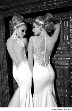 Sexy backless wedding dresses