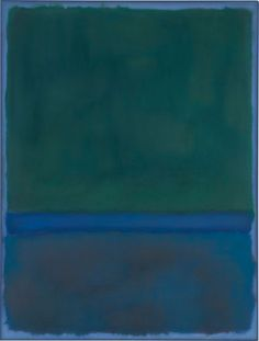 Mark Rothko, No. 17 (Greens and Blue on Blue), 1957