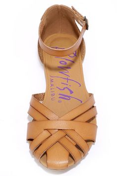 967e6e93a05b Blowfish Rode Desert Sand Flat Ankle Strap Sandals at Lulus.com!