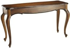 """Provence Console Table, 31""""Hx54""""W, CHESTNUT by Home Decorators Collection. $269.00. 31""""H x 54""""W x 18""""D.. This well-designed console table is the ideal place to display photos and collectibles. Carved details and scalloped edging makes this design the perfect accent to your living room furniture and decor. Order yours today. Available in wide selection of color combinations with gently distressed solid colors. Sophisticated design made from hearty poplar wood. Actual siz..."""