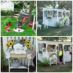Charming cottage-like DIY outdoor retreat