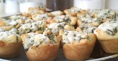 What's on the menu today? Spinach Artichoke Bites! These are super easy to make and are quite  delicious :)     Step-by-Step:    Ingredien...