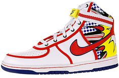 "ARTIST: Roy LichtensteinCOMPANY: NikeWHAT: Lichtenstein VandalPRICE: $98WHY IT'S OUTRAGEOUS: If Roy Lichtenstein were going to design shoes, they would be Keds, which were the subject of his 1962 painting of the same name. Plus, considering all the attacks on famous artwork recently, ""Vandal"" is hardly a name befitting a blue-chip artist-branded product.  [content:shareblock]"