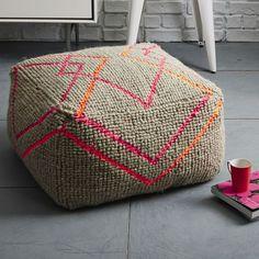 Kate Spade Saturday Neon Diamond Wool Pouf