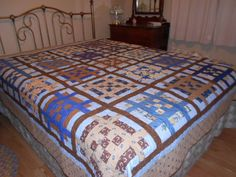 Basket weave quilt, pieced 2012, machine quilted winter 2013.