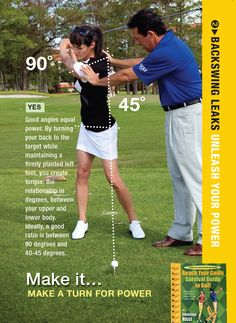 Get more pars with a focus on making a full backswing. Your shoulders should turn more than your hips for max power!