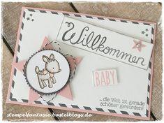 Stampin Up_Baby_Karte_Card_Maedchen_Girl_Geburt_birth_Willkommen_Bambi_Stern_Aquarell_Technik_Stempelfantasie_1