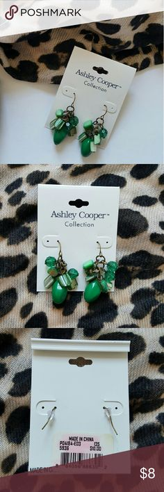 Ashley Cooper Collection Green Earrings Ashley Cooper Collection Green Earrings. NWT and never worn! Ashley Cooper Collection Jewelry Earrings