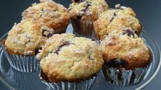 Bursting with fresh blueberries with sparkling lemon-sugar crust, these really are the best wild blueberry muffins. Best Blueberry Muffins, Blue Berry Muffins, Breakfast Items, Breakfast Recipes, Yummy Eats, Yummy Food, Lemon Sugar, Wild Blueberries, Dessert Bread