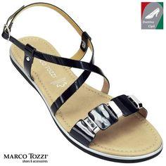 Marco Tozzi női bőr szandál 2-28140-20 018 fekete kombi 7cd9cf8af9