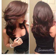 Pretty Women's Layered Hair Cuts Hairstyles Ideas to Looks More Cool Medium Hair Styles, Short Hair Styles, Hair Styles Long Layers, Long Hair Short Layers, Long Cut, Short Cuts, Great Hair, Nice Hair Cuts, Hair Cut Ideas