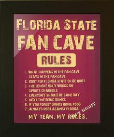FLORIDA STATE SEMINOLES, FAN CAVE SIGN Man Cave Rules, Man Cave Art, Man Caves, Cowboys Men, Dallas Cowboys, Noter Dame, Seahawks Fans, Seattle Seahawks, Seahawks Football