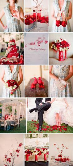 Pozytywne Inspiracje Ślubne: czerwony