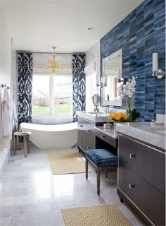 Transitional (Eclectic) Bathroom by Andrea Schumacher