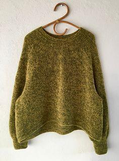 Ravelry: Veggie pattern by Lone Kjeldsen Mullets, Sweater Knitting Patterns, Stockinette, Needles Sizes, Stitch Markers, Long Sleeve Sweater, Cable Knit, Crochet, Pullover Sweaters