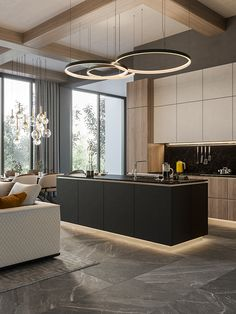 Luxury apartment in residential complex Baisanat - Dezign Ark (Beta) Apartment Design, Apartment Interior, Luxury Kitchens, Kitchen Room Design, House Interior, Kitchen Furniture Design, Modern Kitchen Design, Luxury Apartments Interior, Luxury Kitchen Design