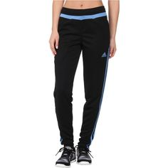 adidas Tiro 15 Training Pant Women's Casual Pants, Black ($23) ❤ liked on Polyvore