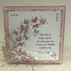 Fancy Fold Cards, Folded Cards, Chloes Creative Cards, Stamps By Chloe, Crafters Companion Cards, Birthday Cards For Women, Card Sentiments, Shaped Cards, Embossed Cards