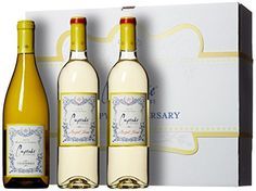 Cupcake Vineyards Happy Anniversary White Wine Gift Box 3 x 750 mL ** Want to know more, click on the image.