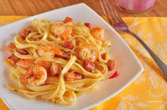 Spaghetti with Prawn Sauce Milanesa, Food For Thought, Prawn Sauce, Canada Food Guide, Shrimp Spaghetti, Spaghetti Sauce, How To Make Spaghetti, Good Food, Yummy Food