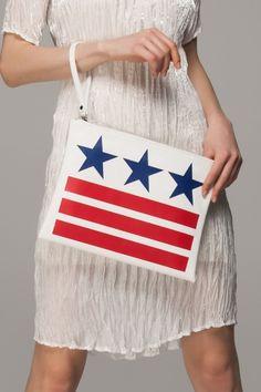 #star #redwhiteblue #star #clutch #bag #purse
