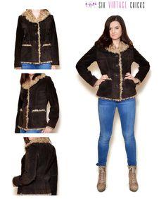 Suede Jacket Brown Boho Bohemian Sheepskin Coat Leather Jacket Short Jacket Country Jacket Vintage Clothing Size M/38 Vintage Leather Jacket by SixVintageChicks on Etsy