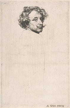 Self-Portrait, From 'The Iconography'  --  Circa 1630  --  Anthony van Dyck (Flemish, 1599–1641)  --  The Metropolitan Museum of Art, New York