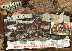Gravity Falls Birthday Party Invitation by WhoIsThisDude on Etsy