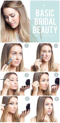 Its easy for a wedding budget to get out of control but one easy way to help manage it is to do your own makeup.  Plus, this will let you control how you want to look - the glowy, super-in-love bride.  Check out this guide on how to achieve that soft, pretty look that would compliment a loose romantic bun or even  tousled waves. #food
