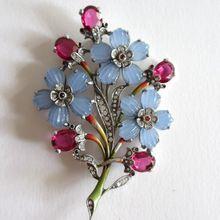 Stunning Pennino Glass Petal Flower Brooch