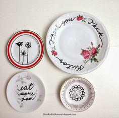 Painted plates - Ihan Kaikki Kotona
