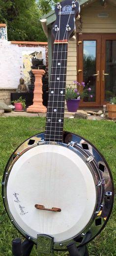 1930s J.E.Dallas & Sons George Formby type D Ukulele Banjo --- https://www.pinterest.com/lardyfatboy/