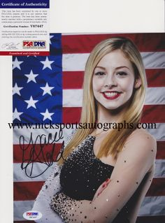 Gracie Gold - Recently obtained autographs of the 2014 US Ladies Figure Skating Champion and Sochi Olympian, Gracie Gold! www.nicksportsautographs.com