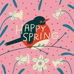 Mary Kate McDevitt Lettering and Illustration First Day Of Spring, Happy Spring, Polymer Clay Animals, Lettering, Typography, Showcase Design, Motion Design, Animated Gif, Mary