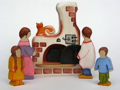 Russian Fireplace (or Pechka) with Cat | Peace Fleece