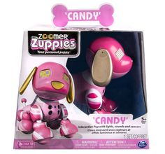 Zoomer Zuppies Interactive Puppy - Candy pink dog 2014 Toy Award Winner NIP HOT #Spinmaster