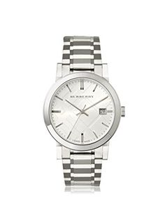 Men's Wrist Watches - Burberry Mens BU9000 Large Check Stainless Steel Bracelet Watch ** Be sure to check out this awesome product.