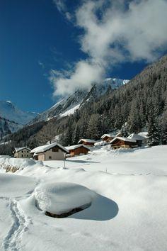 paysage Trient sous la neige en Valais Suisse | Vincent Paulic