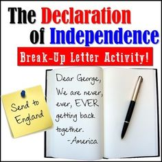 The Declaration of Independence is modernized! In this product you will get TWO different activities that will help your students better understand our nations most important document! The lesson includes an activity of a re-write- taking passages from the document and putting them in your own words.