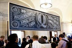 Dana Tanamachi | Custom Chalk Lettering. Q Conference Washington D.C.