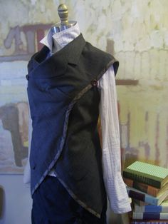 Such a cool collection of tunics made out of men's jackets.